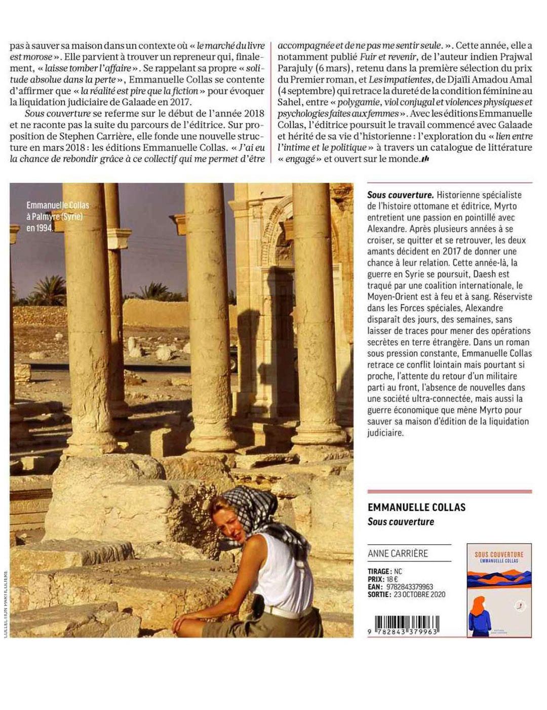 LH Le Mag, Emmanuelle Collas, 10.2020