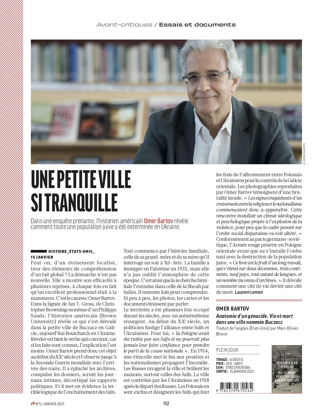 Omer Bartov Livres Hebdo